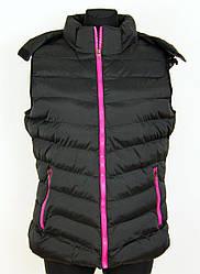 Жіноча жилетка Qifeng чорний (G7060A-black) - XXL