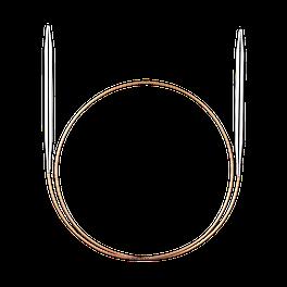 Addi Спицы круговые супергладкие белая бронза 80см