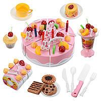 75 штук DIY Кекс торт сладкий напиток Дети ролевые игры Кухня подарок игрушки ABS пластик