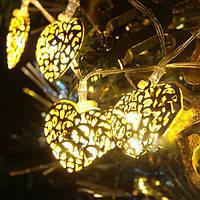 Электро-гирлянда 20L с насадкой «Золотое сердце» на 20 светодиодов