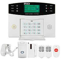 LCD Безопасность Беспроводная связь GSM Автодиск Домашний дом Взломщик Intruder Пожарная сигнализация