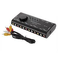 4 в 1 Out AV RCA Переключатель Box AV Audio Video Signal Switcher 4 Way Splitter