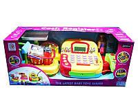 Детский кассовый аппарат игрушка касса супермаркета LF996A сканер, калькулятор, продукты, в коробке  48*20*19 см.