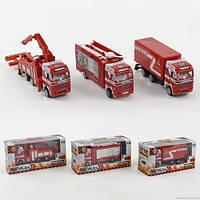 Пожарная машина металлопластик 2007 (144) , 1шт в коробке