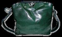 Сумка женская из натуральной кожи зеленого цвета на плечо FWG-360069