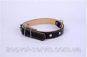 Ошейник двойной с украшением (ширина 14 мм, длина 27-35 см) Коллар 00131 черный, фото 2