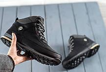 Мужские ботинки на меху черные, фото 2