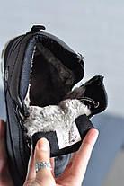 Мужские ботинки на меху черные, фото 3