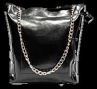 Прекрасная женская сумочка черного цвета из натуральной кожи DQG-301677