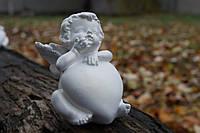 Ангел с большим сердцем №1 (белый) 9 см