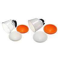 Универсальная облачная ламповая вспышка Диффузор Рефлектор Белый ABS с накладками на купольной крышке