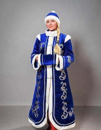 Новогодний костюм Снегурочки из бархата 50-52р, фото 2