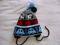 Теплые шапки детские двойные