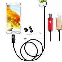 5.5mm 6 LED HD 2m камера OTG USB 2м Промышленный эндоскоп для ПК Samsung S6/S7 Пограничный Android