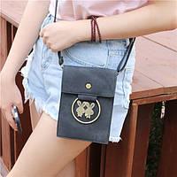 Универсальный Многослойный джинсы медное кольцо Кролик сумка телефона Кошелек для телефона под 5,7-дюймовый