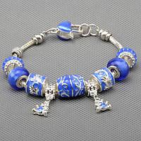 Браслет PANDORA, синий браслет Пандора