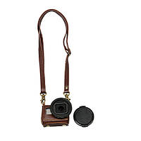 Портативный кожаный чехол Обложка сумка для действий камеры Gopro Hero 4 Серебро с 40,5 УФ-объективом