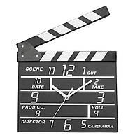 Кино Кино шифера Форма аналогового Часы настенные деревянные Современные Deco