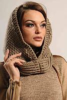 Вязаная шапка - шарф Капор