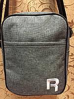 (21*16)Спортивные барсетка REEBOK ткань катион матовый/Сумка мессенджер для через плечо(только ОПТ)