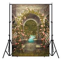 5x7FT замок Фотография фон свадьбы Photo Studio Виниловые задники Цветы