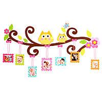 Сова цветок дерево фоторамка стены наклейки Виниловые Art Decal Детская комната Детские Декор