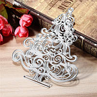 Рождественская елка Металл DIY Плашки трафарета Scrapbook Альбом судов подарок