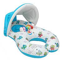 IPRee™Надувноеплаваниедлямладенцев для младенцев Плавание Бассейн Водяное сиденье с навесом Sunshade