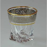 Набор стопок Bohemia Quadro 55мл gold+platinum