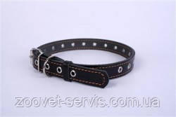 Ошейник кожаный для собак Collar 25 мм Черный (02441)