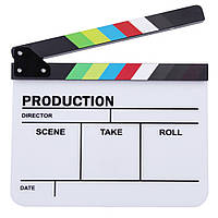 Clapperboard телевизионный фильм Фильм хлопушка ручной Красочные Erase директор Cut Prop-1TopShop