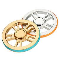 ECUBEE Колесный алюминиевый сплав Круглый Fidget Spinner Hand Spinner с резиновым кольцом