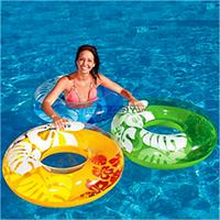 """Надувной круг """"Перламутр"""" Intex 59251 76см 2 цвета, плавательный круг, детский надувной круг для плавания"""