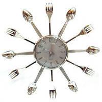 Часы Ложки Вилки серебро