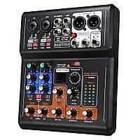 6-канальнаяProLiveStudioAudioSound Коннектор микшерного микшера USB Phantom Power