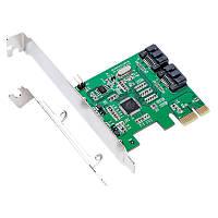 IOCREST IO-PCE9120-2I PCI-E to 2 SATA 3.0 Плата расширения SSD Boot 4TB для рабочего стола