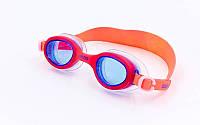Очки для плавания детские BARBIE UNO FW11 PLUS (поликарбонат, TPR, силикон, красные)