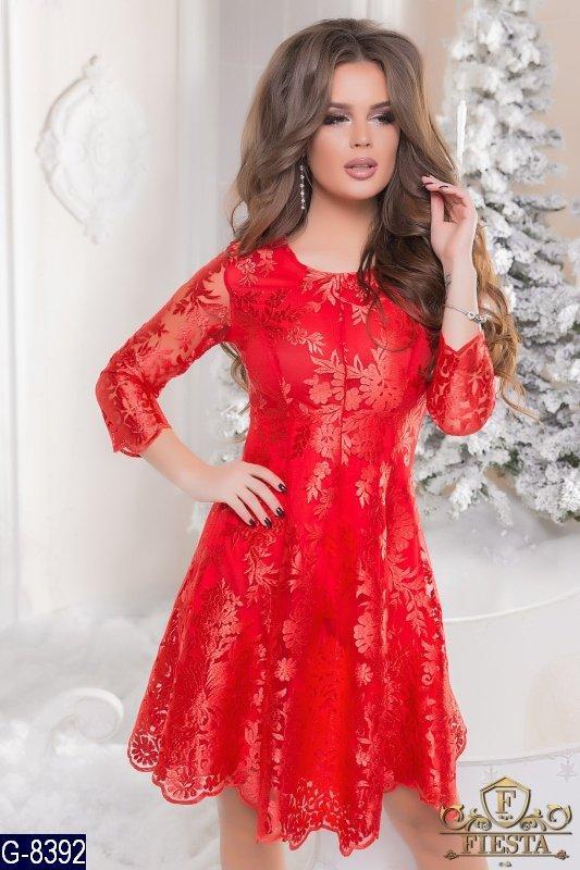 6a3f29ee4d7 Нарядное вечернее платье ткань итальянский гипюр раз. 44