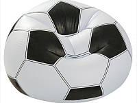 """Надувное кресло """"Футбольный мяч"""" Intex 68557, кресло-мяч 108*111*66см, велюровое надувное кресло"""