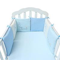 6PC A Заданная Детская кровать Младенческая Бамперы Хлопок безопасности плюша малышей Детские защиты Beding 1TopShop