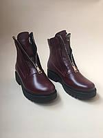 Стильные женские ботинки .Зимние .Натуральная кожа