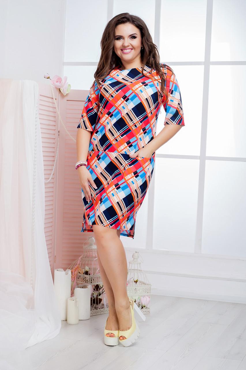 Платье карман лето(46-60) 8169