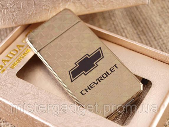 Импульсная зажигалка Chevrolet Подарочная USB зажигалка Шевроле, фото 2