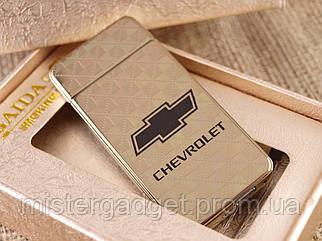 Импульсная зажигалка Chevrolet Подарочная USB зажигалка Шевроле