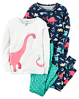 Пижамы Carter's для девочки с Динозавриками (Поштучно)