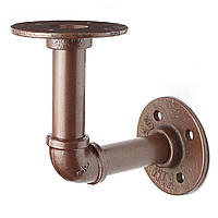 3/4 дюйма железной трубы кронштейнами поддержки Настенный держатель Промышленные 12x12cm