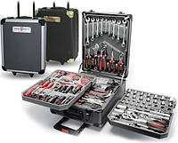 Набор инструментов 187 предметов KomfortMax (Комфортмакс) в чемодане на колесах с ручкой