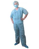 Костюм хирургический, брюки+куртка, одноразовый, стерильный, №1