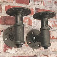 2 штук 3/4 дюйма утюга полок Фланец труб промышленного назначения Кронштейн 130x160mm