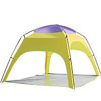 На открытом воздухе 3-4 чел.Кемпинг Тент Автоматическое открытие Пляжный УФ-дождь Тент с тентом с нижним ковриком